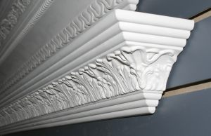 patterned crown moulding angle